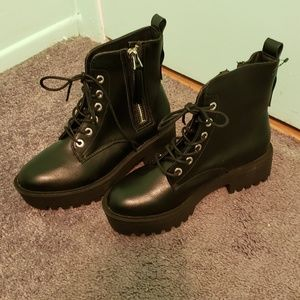Forever 21 black combat boots
